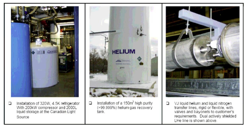Large Scale Helium Liquefaction Installations